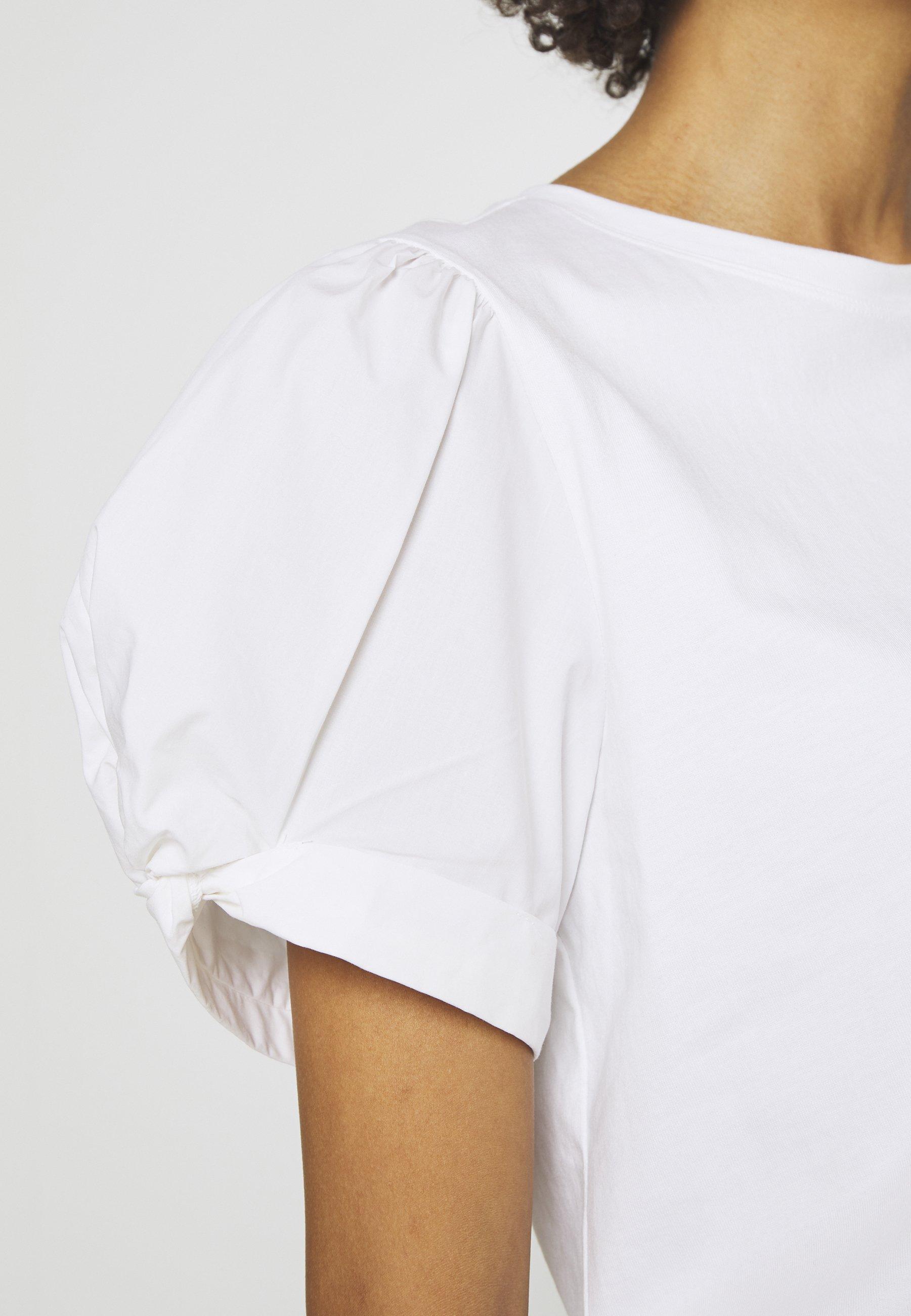 Gap Mix Puff - T-shirts Med Print White/hvit