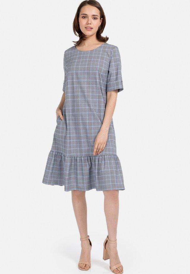 Korte jurk - grau-hellblau