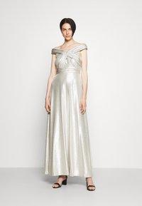 Lauren Ralph Lauren - QUINCY SLEEVELESS EVENING DRESS - Abito da sera - silver - 0