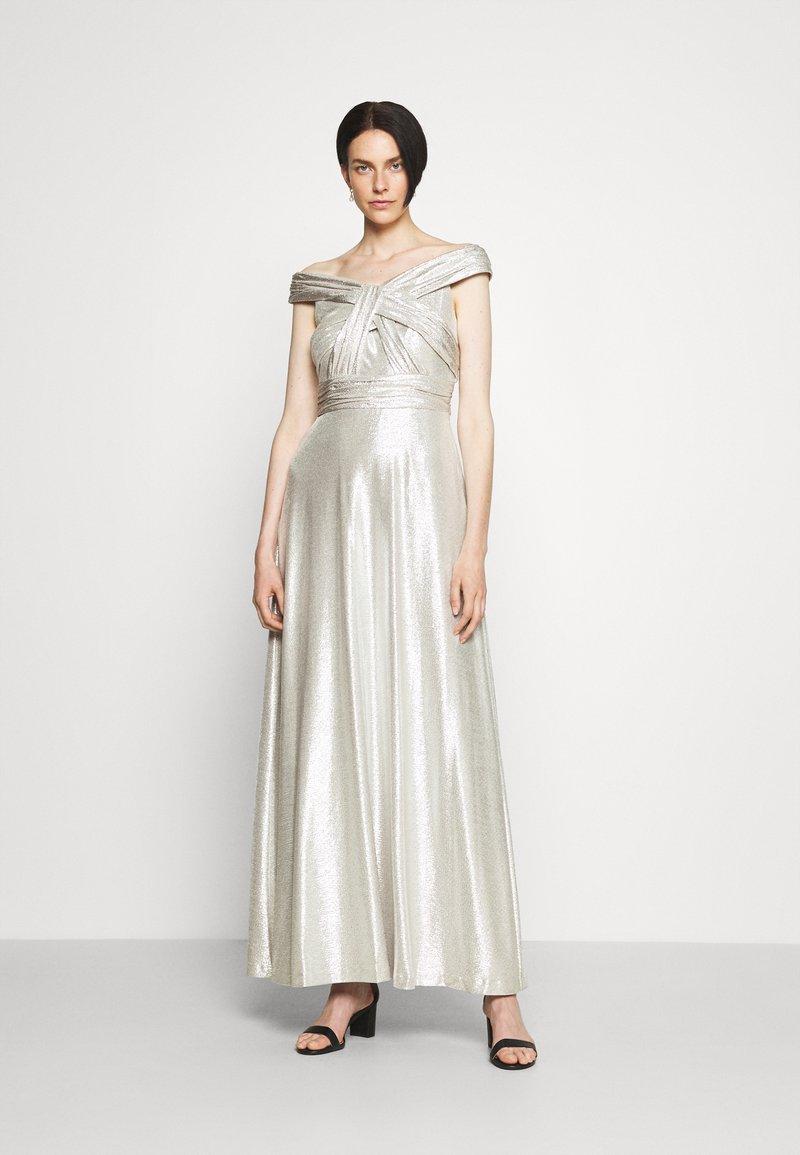 Lauren Ralph Lauren - QUINCY SLEEVELESS EVENING DRESS - Abito da sera - silver