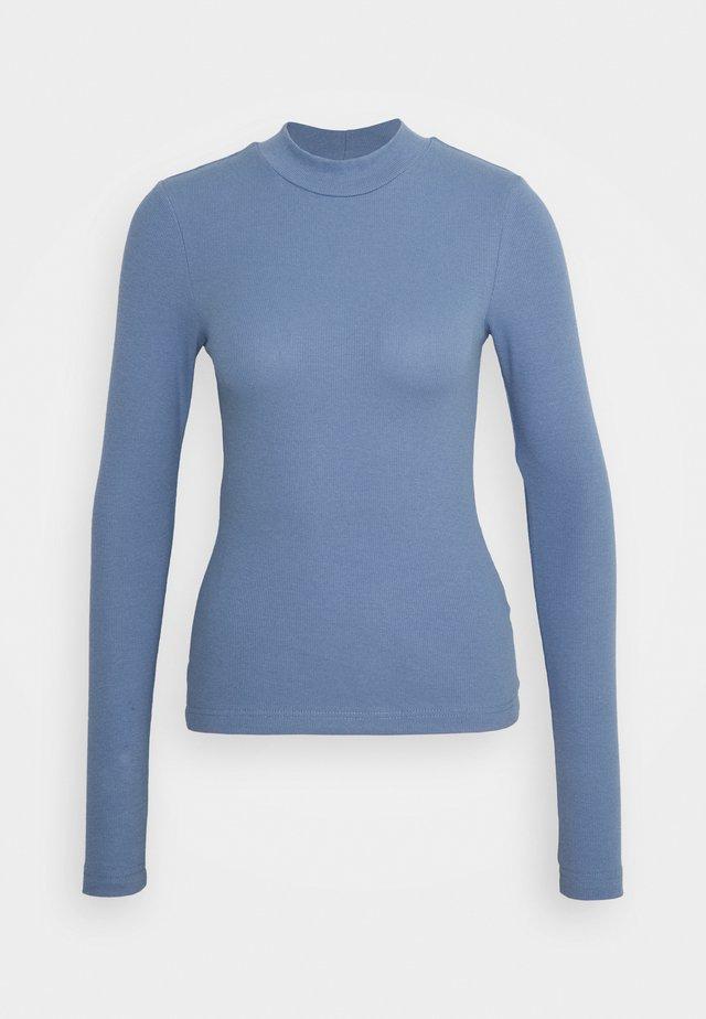 MOCKNECK - Long sleeved top - dusty blue