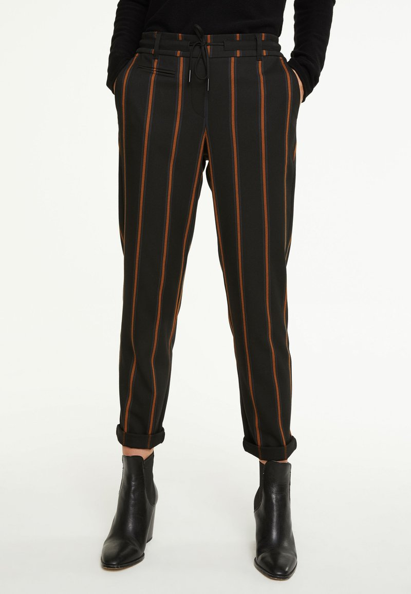comma casual identity - IM JOGSTYLE - Trousers - grey stripes