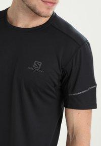 Salomon - AGILE TEE - Jednoduché triko - black - 4