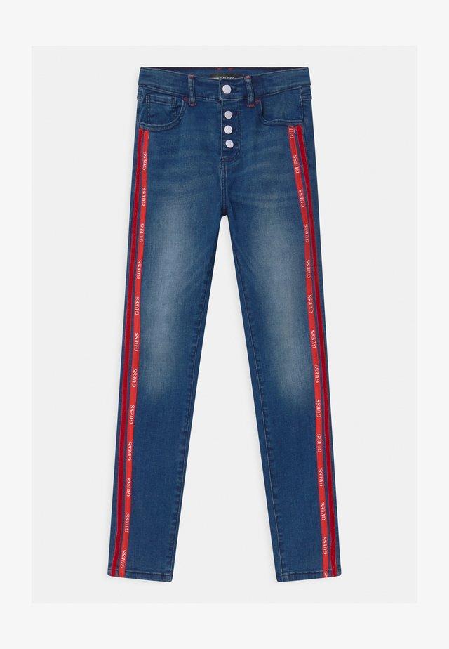 JUNIOR HIGH WAIST SKI - Jeans Skinny Fit - blue denim