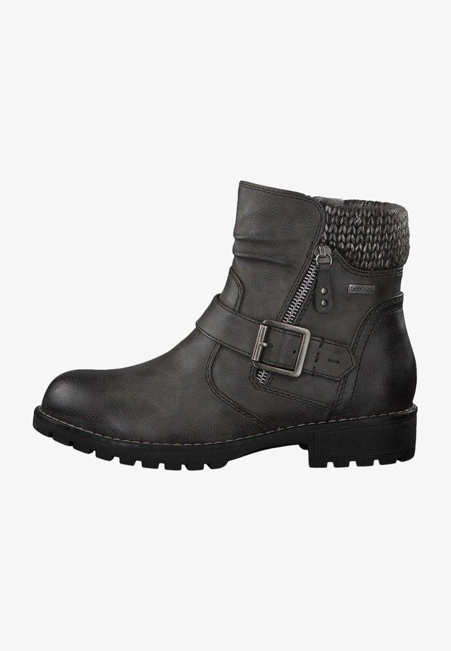 Cowboy/biker ankle boot - graphite