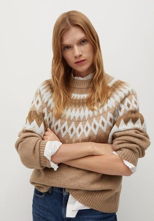 LUCILLE - Jumper - marron moyen