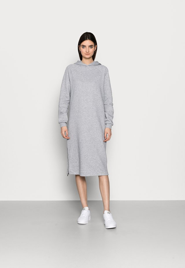 NMHELENE DRESS - Vapaa-ajan mekko - light grey melange
