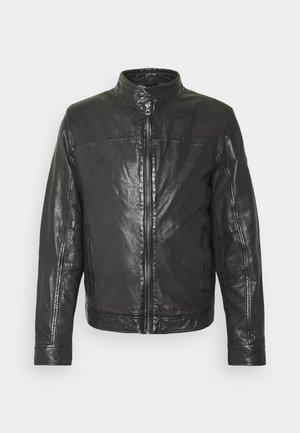 RYKER LABUV - Leather jacket - schwarz