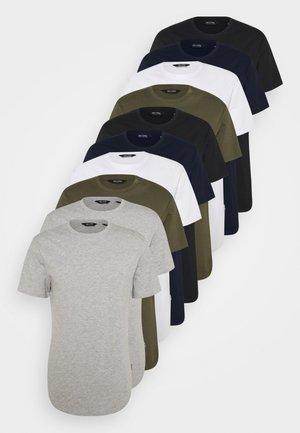 ONSMATT LIFE LONGY TEE 10 PACK - T-shirt basic - white/olive/navy/black