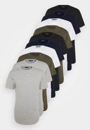 ONSMATT LIFE LONGY TEE 10 PACK - Basic T-shirt - white/olive/navy/black