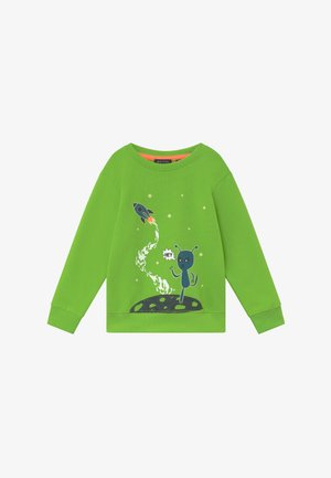 KIDS GLOW IN THE DARK ALIEN  - Sweater - apfel