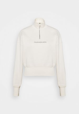 BACK REFLECTIVE LOGO HALF ZIP - Sweatshirt - white sand