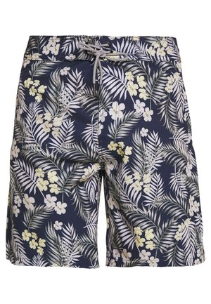 IALOHA SURFER SWIM FLOWER - Swimming shorts - navy blazer