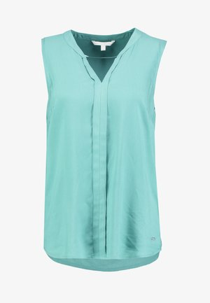 SLEEVELESS OPEN NECK  - Blouse - mineral stone blue