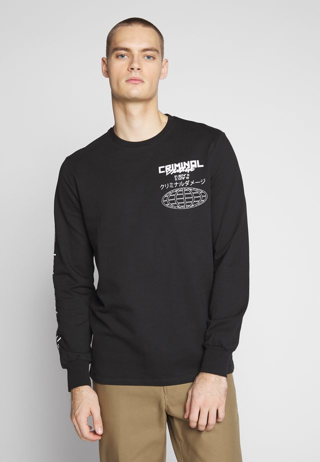 GLOBE TOP - Sweatshirt - black/multi
