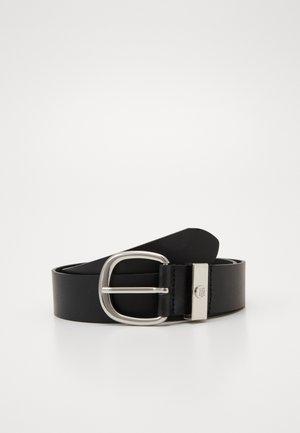 OVAL BUCKLE BELT - Belt - black