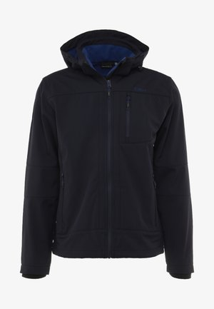 MAN JACKET ZIP HOOD - Soft shell jacket - blue/marine
