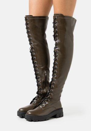 CARLOTA - Over-the-knee boots - khaki