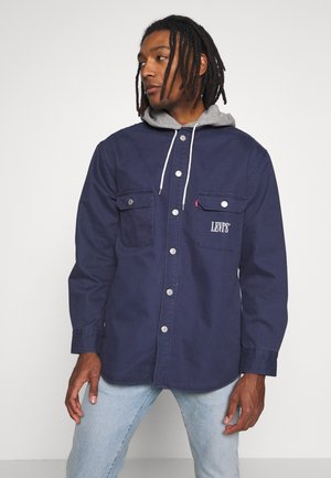 HOODED JACKSON OVERSHIRT - Kurtka wiosenna - dress blues