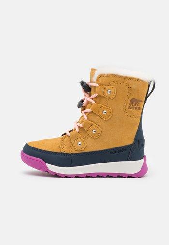 CHILDRENS WHITNEY II JOAN LACE - Winter boots - geo yellow/collegiate navy