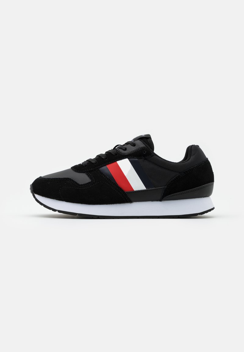 Tommy Hilfiger - CORPORATE FLAG RUNNER - Trainers - black