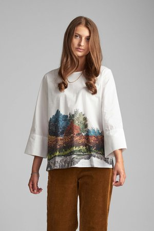 NUBRONYA BLOUSE - Blouse - bright white