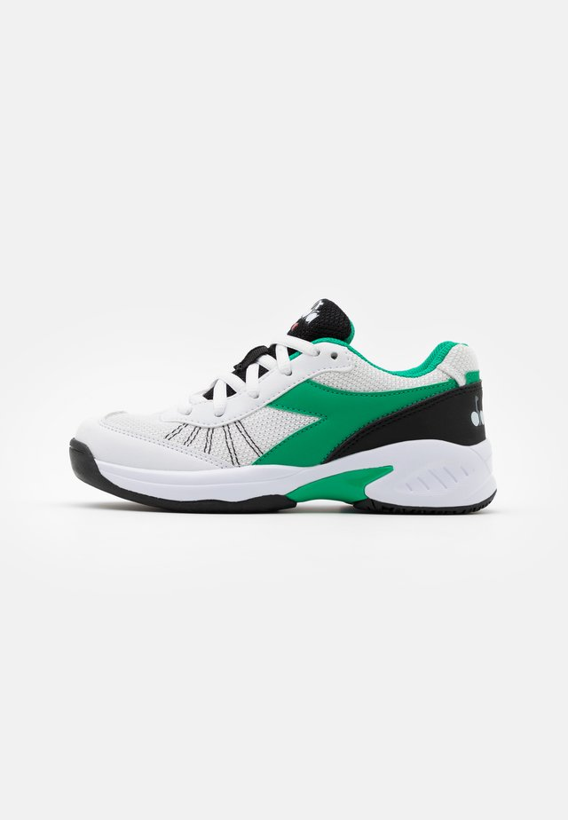 S. CHALLENGE 3 JR UNISEX - Scarpe da tennis per tutte le superfici - white/holly green/black