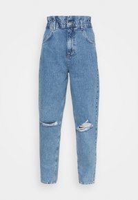 Gina Tricot - PAPERBAG MOM - Relaxed fit jeans - springblue - 4