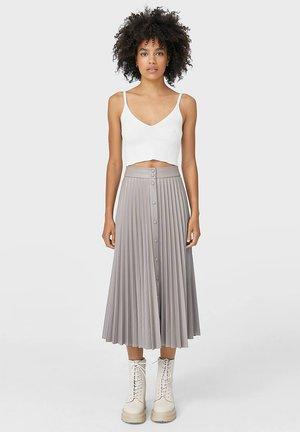 MIT KNÖPFEN - A-line skirt - grey