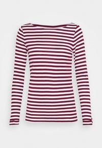 Esprit - STRIPE LONGSLEEVE - Maglietta a manica lunga - bordeaux red - 0