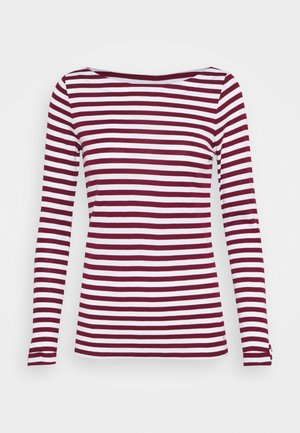 STRIPE LONGSLEEVE - Long sleeved top - bordeaux red