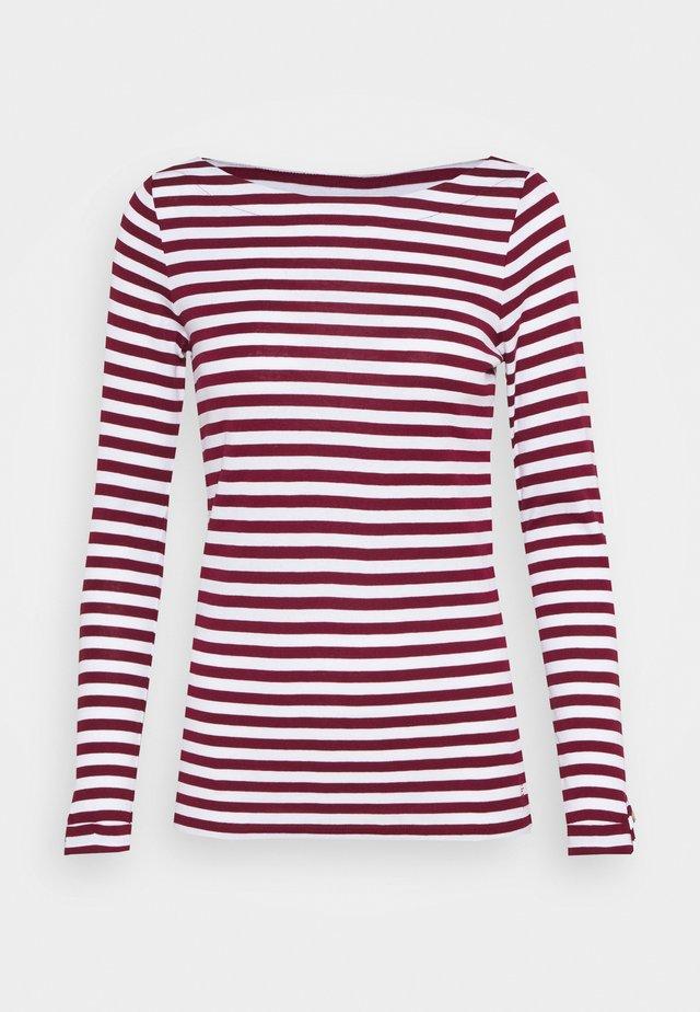 STRIPE LONGSLEEVE - Long sleeved top - bordeaux red