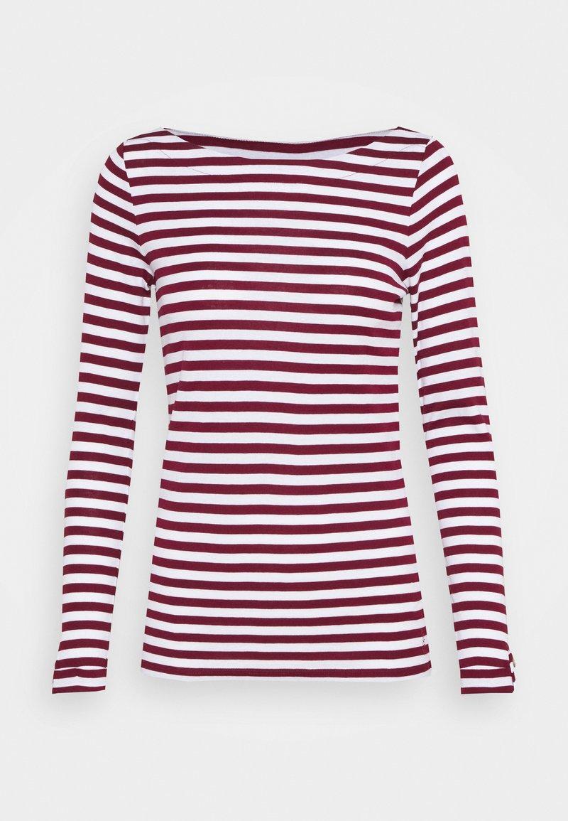 Esprit - STRIPE LONGSLEEVE - Maglietta a manica lunga - bordeaux red