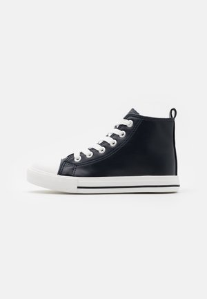 CLASSIC LACE UP UNISEX - High-top trainers - navy smooth