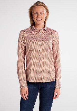 MODERN CLASSIC - Button-down blouse - braun/weiß