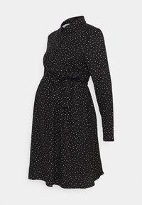 New Look Maternity - SPOT DRESS - Jerseykjole - black/white - 0