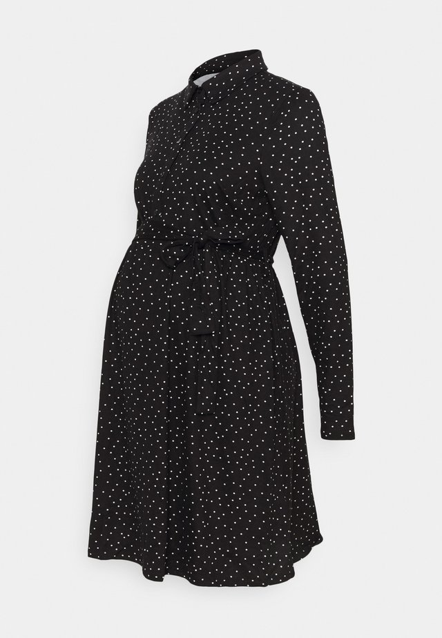 SPOT DRESS - Jerseykjole - black/white