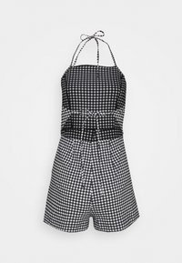 Topshop - GINGHAM PLAYSUIT - Jumpsuit - monochrome - 1