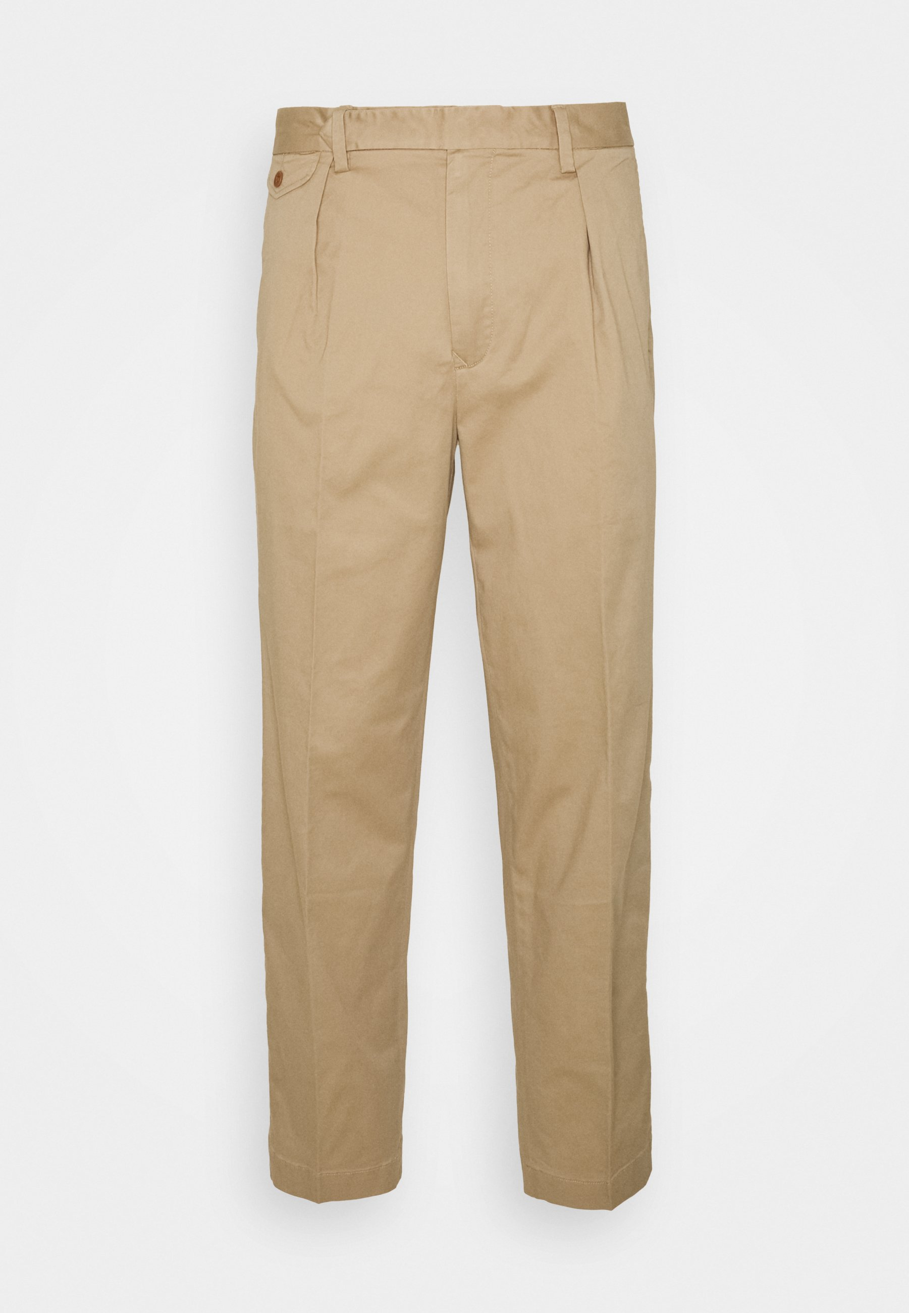 Homme STRETCH SLIM TAPERED FIT PLEATED PANT - Pantalon classique