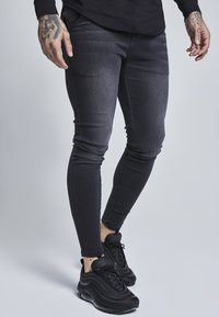 SIKSILK - Slim fit jeans - washed black - 1