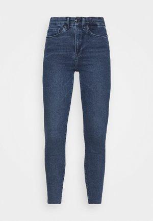WAIST RAW EDGE - Jeans Skinny Fit - blue