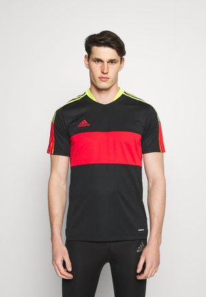 TIRO - Camiseta estampada - black/red/yellow