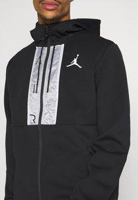 Jordan - AIR FULL ZIP - Huvtröja med dragkedja - black/white - 5