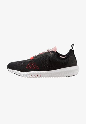 FLEXAGON - Sports shoes - black/red/rose/white
