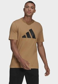 adidas Performance - Print T-shirt - brown - 0