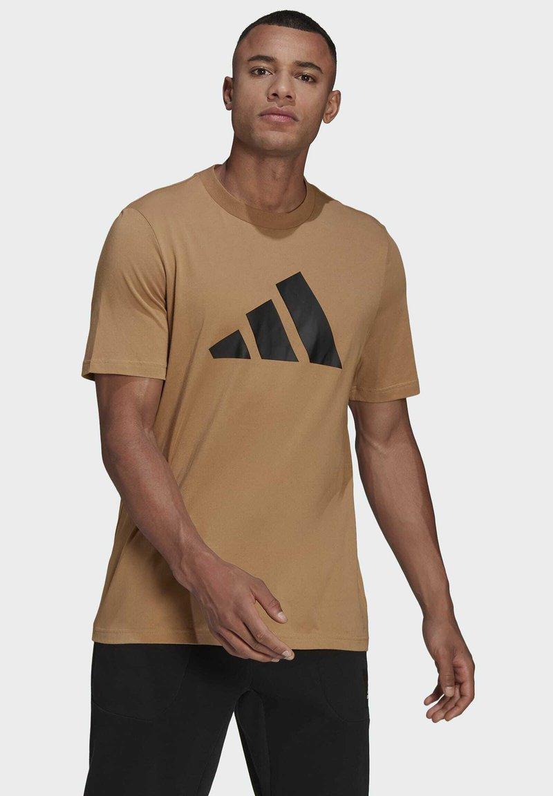adidas Performance - Print T-shirt - brown