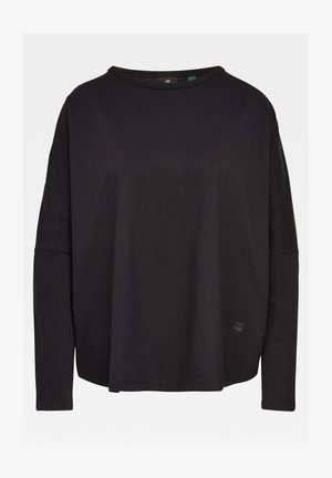 GSRAW GR LOOSE ROUND LONG SLEEVE - Langarmshirt - dk black