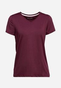 Esprit Sports - Basic T-shirt - bordeaux red - 10