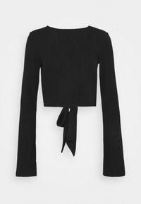 NA-KD - KNOT DETAIL OPEN BACK - Långärmad tröja - black - 4