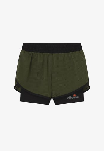 ARINO 2-IN-1 - Sports shorts - black/khaki